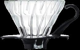 HARIO V60玻璃咖啡濾杯 01 (黑色)