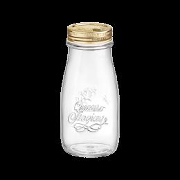 Bormioli Rocco Quattro Stagioni Glass Bottle with Gold Lid 13.5oz