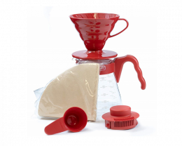 HARIO V60 陶瓷滴餾壼套裝 (紅色)