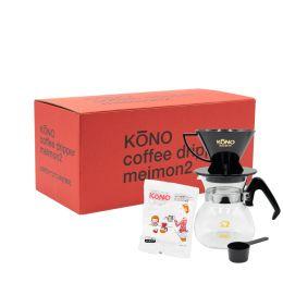 KōNO MEIMON Dripper Set (2 Cups) - Black