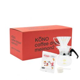 KōNO MEIMON Dripper Set (2 Cups) - Clear