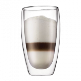 Bodum PAVINA Double Wall Glass Cups, Large (Set of 2)