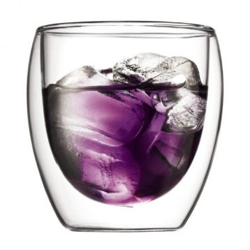 Bodum PAVINA Double Wall Glass Cups, Small (Set of 2)
