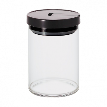 Hario Coffee Glass Canister 800ml (Black)