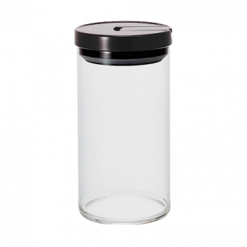Hario Coffee Glass Canister 1000ml (Black)