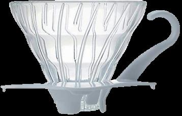 HARIO V60玻璃咖啡濾杯 02 (白色)