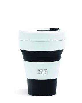 Pacific Coffee x Stojo Pocket Cup 12oz (Black)