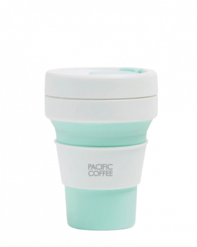 Pacific Coffee x Stojo Pocket Cup 12oz (Mint)
