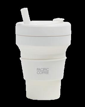 太平洋咖啡 X Sojo 可折疊咖啡杯 16安士 (白晶)