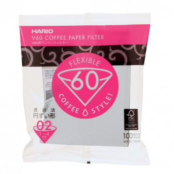 HARIO V60 Filter Paper (1 - 4 cups) - White