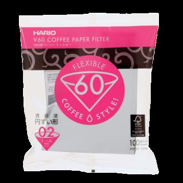 HARIO V60咖啡專用濾紙1-4杯用 (白色)