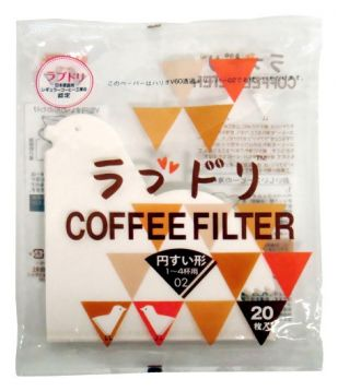 Hario Love Dori Paper Filter 02 W 20 sheets