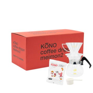 KONO MEIMON Dripper Set (2 Cups) - Clear